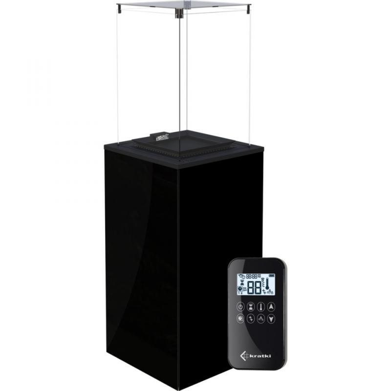 PATIO черное стекло с пультом ДУ - фото