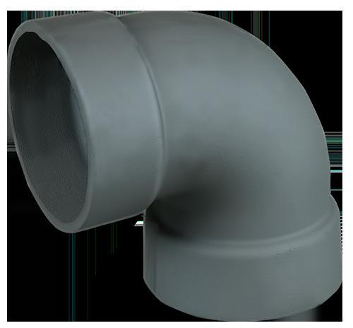 Отвод 90гр чугун ф150 - фото
